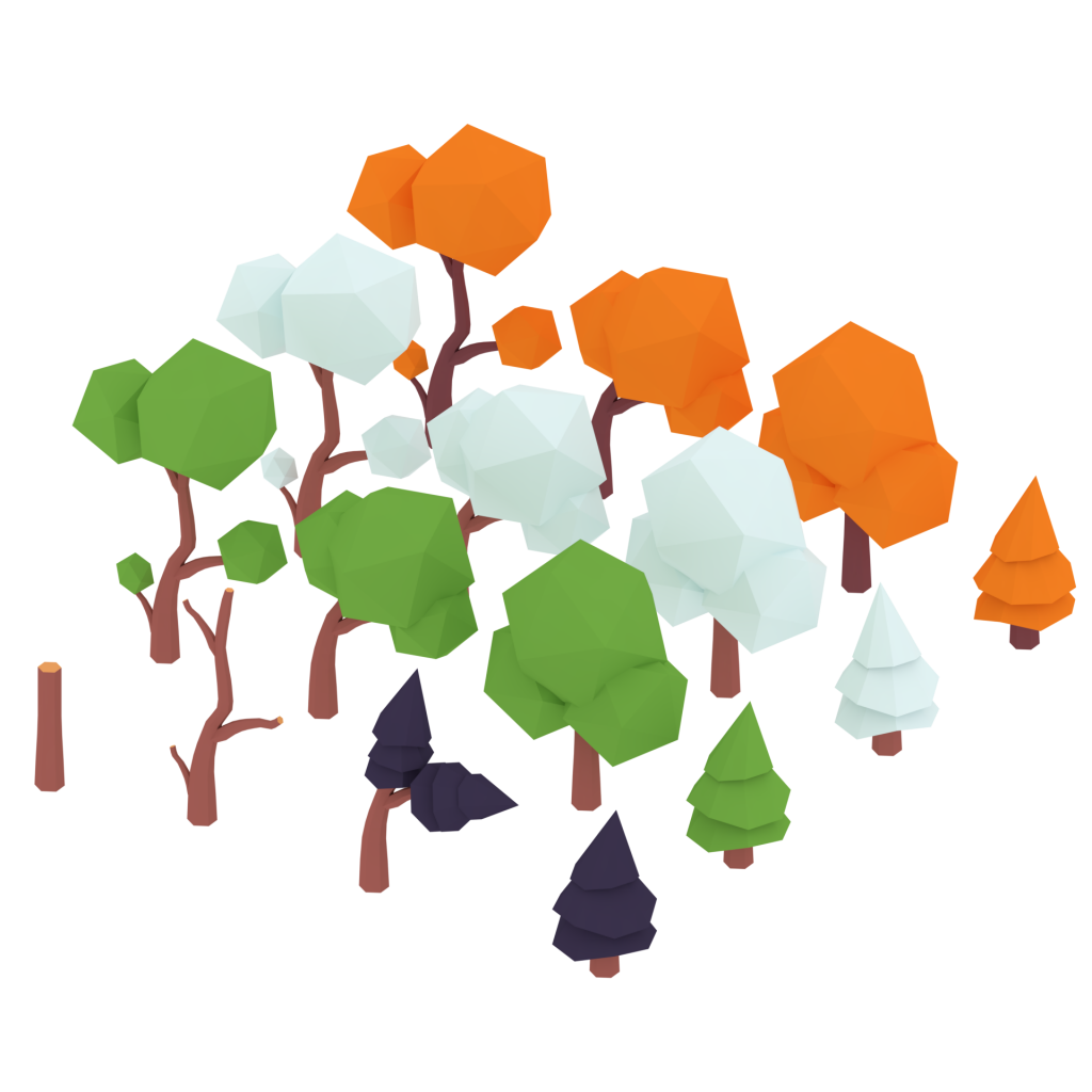 3D Trees CC0 free Asset Pack